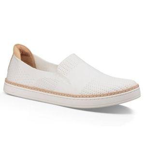 UGG Sammy Knit Slip-on Sneakers White Tan 10